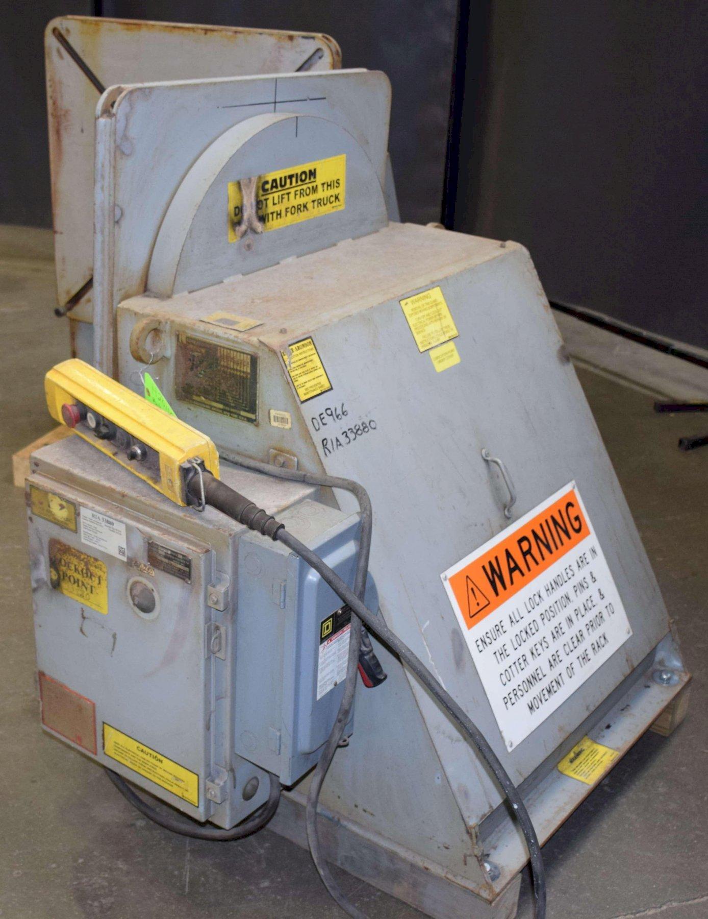 "Aronson Headstock Tailstock Set HTS-5, 5000 Lbs. @ 6"" CG, 30"" x 30"" Tbl., V-Speed"