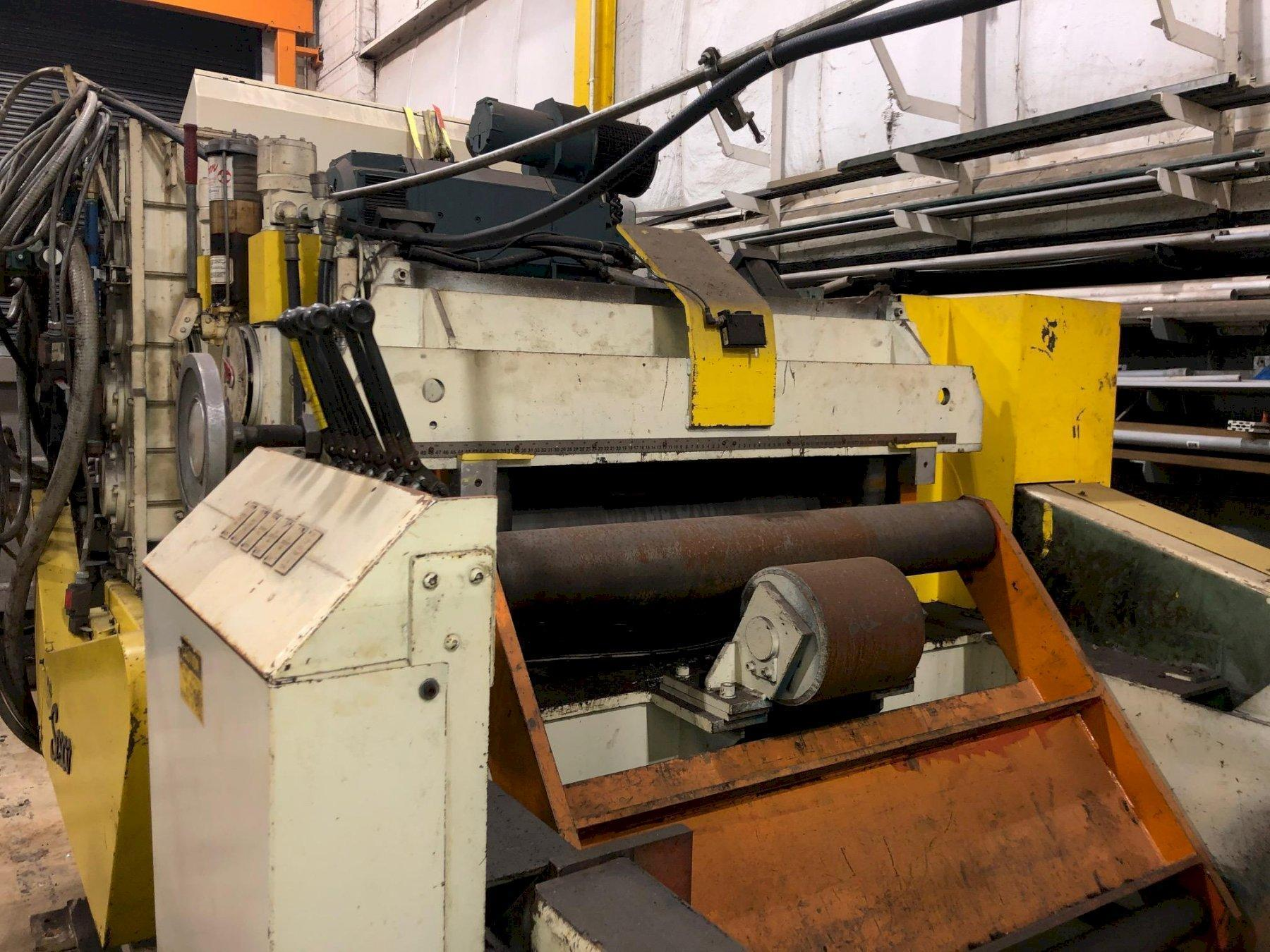 """SESCO Coil Cradle - Straightener - Feeder Complete Coil Feed Line 20,000 Lbs. x 42"""" Wide"""
