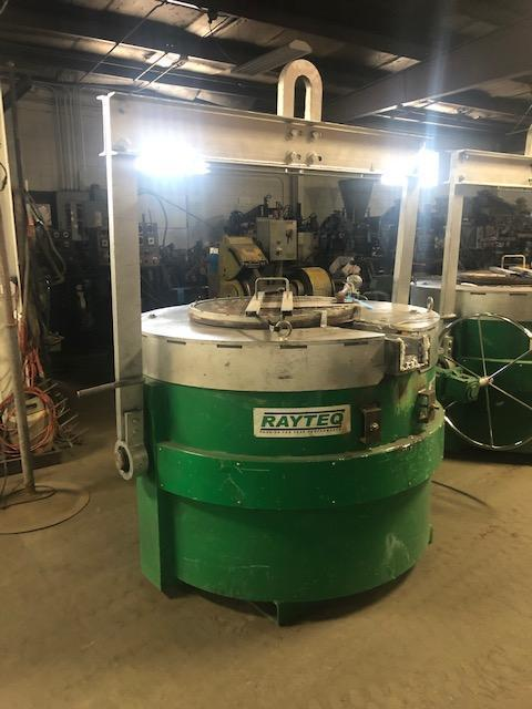 RAYTEQ MODEL DT500 500# PER HOUR MELT RATE ELECTRIC LADLE WITH POWER SUPPLY S/N 479, 1500# CAPACITY