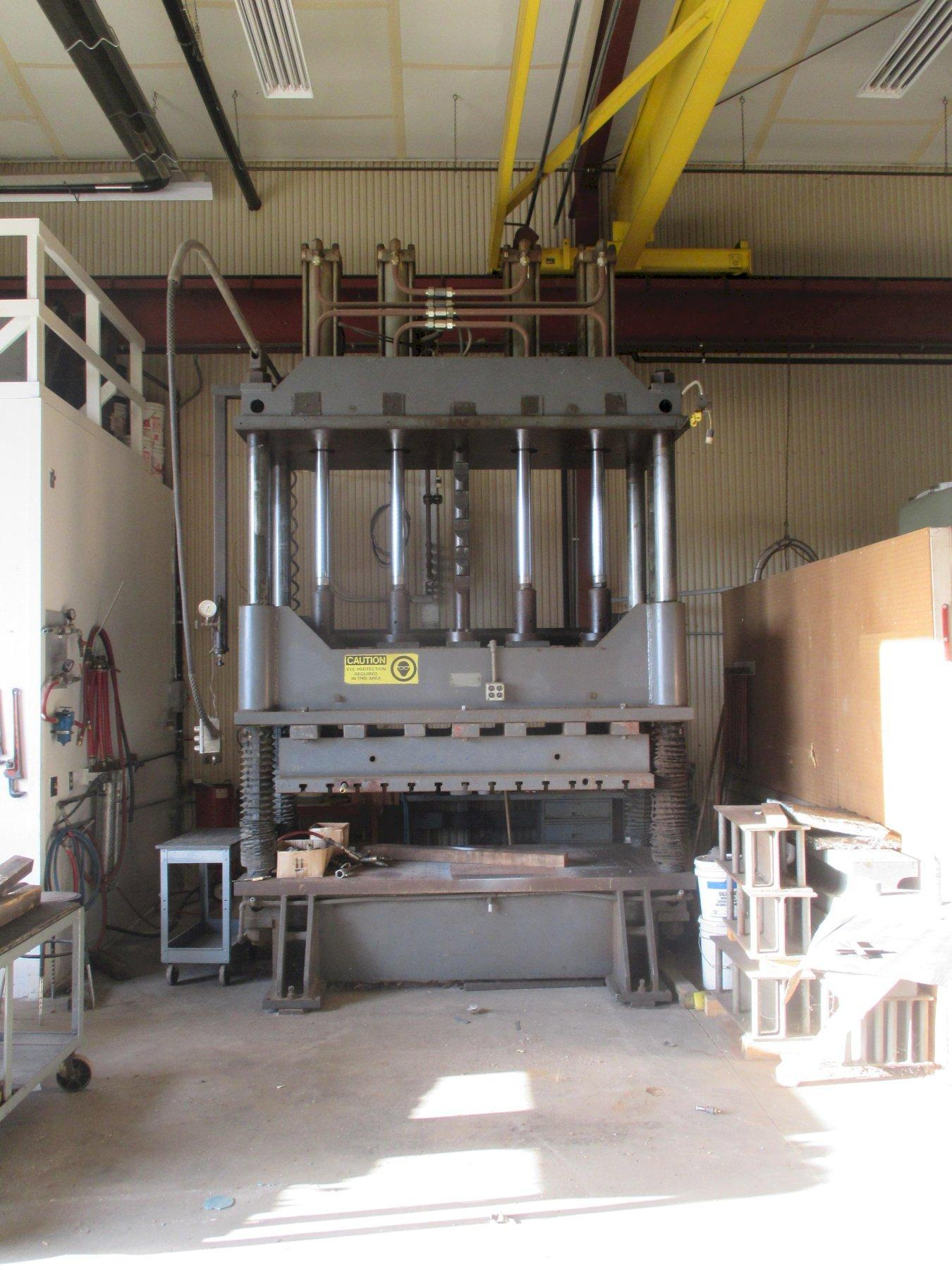 50 TON MODERN TOOL HYDRAULIC 4-POST PRESS: STOCK #13451