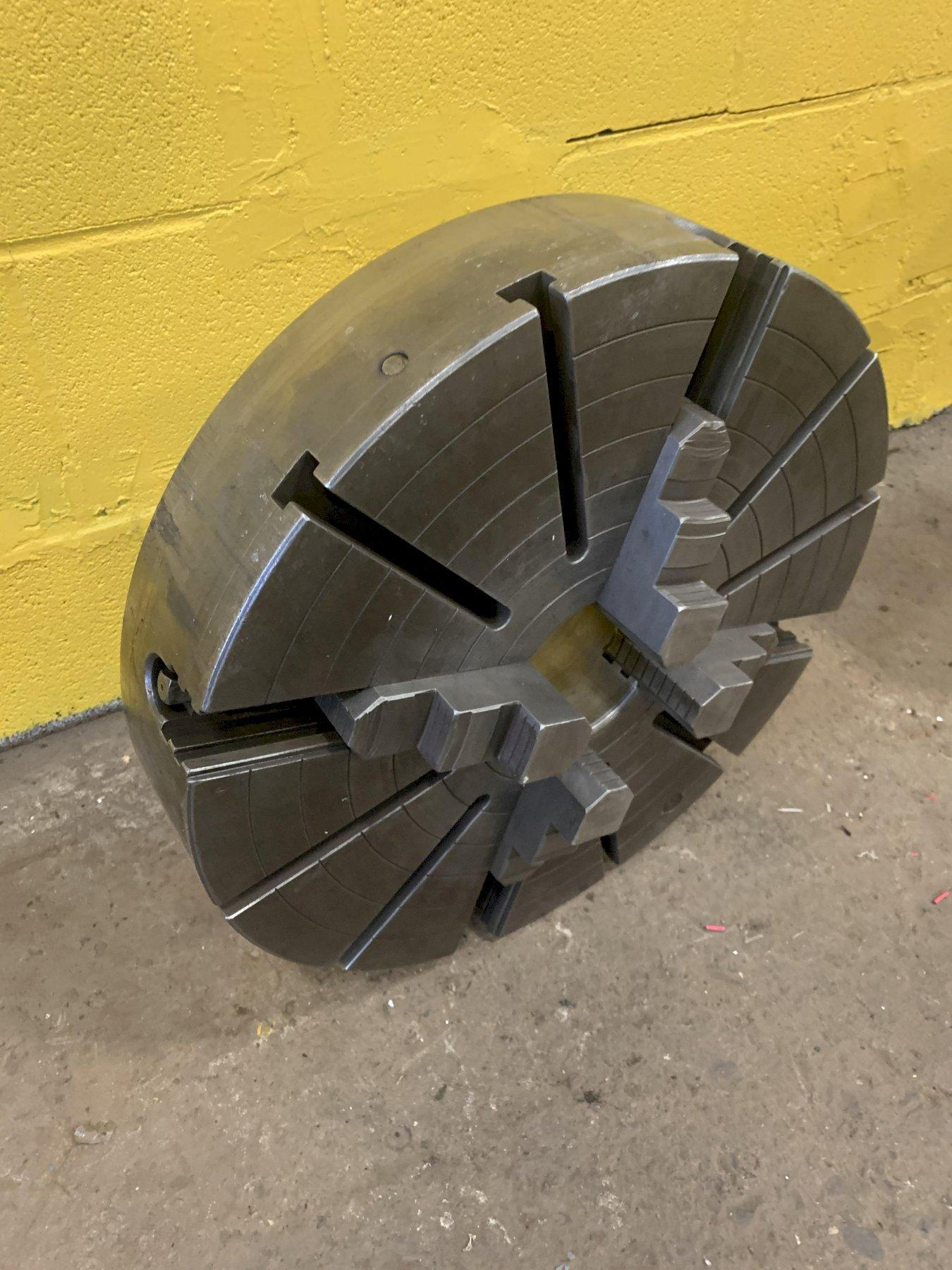 "19.5"" 4 JAW LATHE CHUCK WITH D1-8 MOUNT: STOCK #12925"