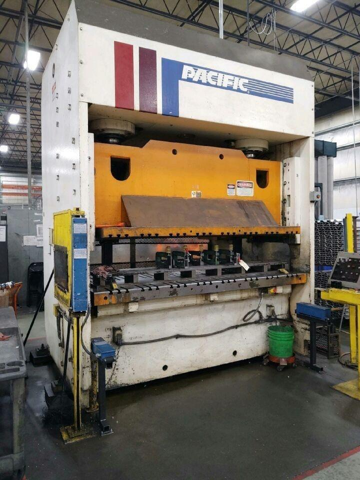 200 TON PACIFIC 2 POINT MODEL #OBL-8/48 HYDRAULIC STRAIGHT SIDE PRESS: STOCK 12350