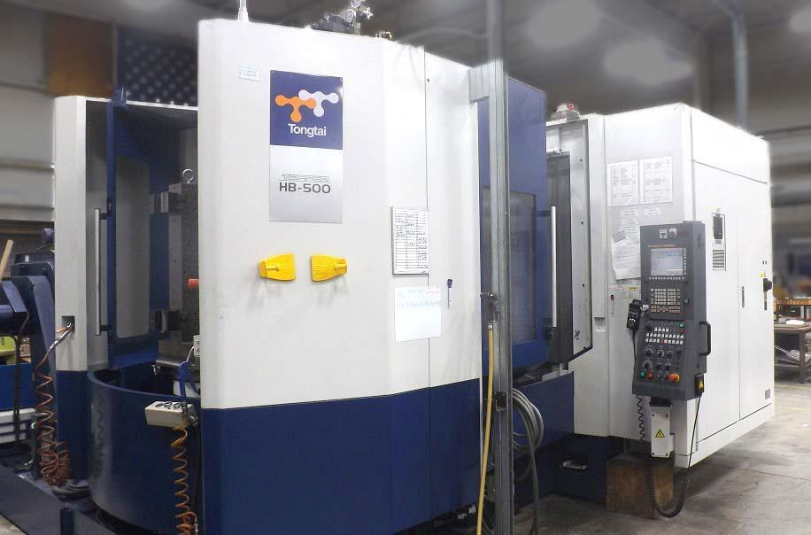 """TONGTAI HB-500 CNC HORIZONTAL MACHINING CENTER, Fanuc 31i CNC Control, 20"""" Full Contouring Pallets, 10,000 RPM Spindle, X=32"""", Y=28"""", Z=28"""", 50 Taper, 60 Station Tool Changer, New 2012, Only 518 Run Hours."""