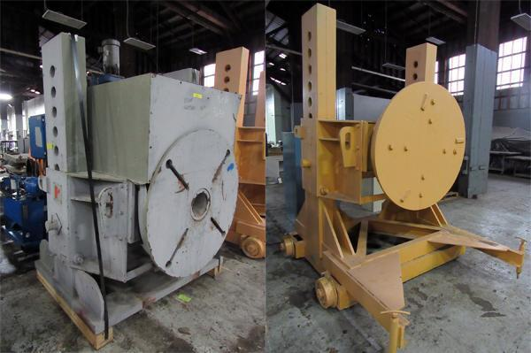USED, 24,000 LB. RANSOME MODEL 7-H / 7-T ADJUSTABLE HEIGHT HEADSTOCK / TAILSTOCK WELDING POSITIONER