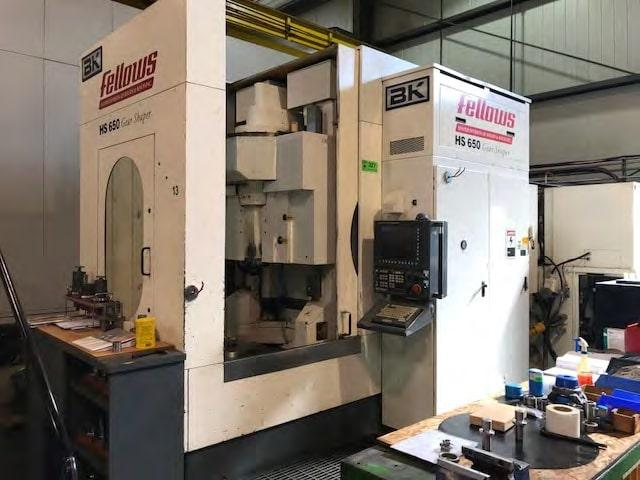 "(1) Used Fellows ( Bourn & Koch) HS 650-200 Vertical CNC Gear Shaper, , Max. Diameter (External)	  25.59""/650mm,  Max. Diameter (Internal)	                          25""/635mm, Stroke Type Hydrostroke, Max. Face Width 7.874""/200mm,                                