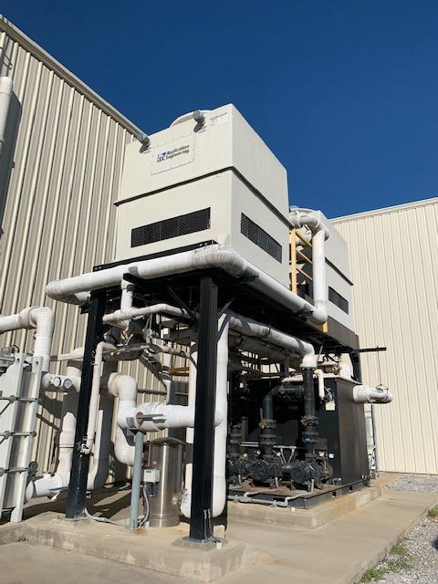AEC Used FG2007 Cooling Tower (125 ton) and T1600D-25-25-10 Pump Tank Set, 460V, 2013