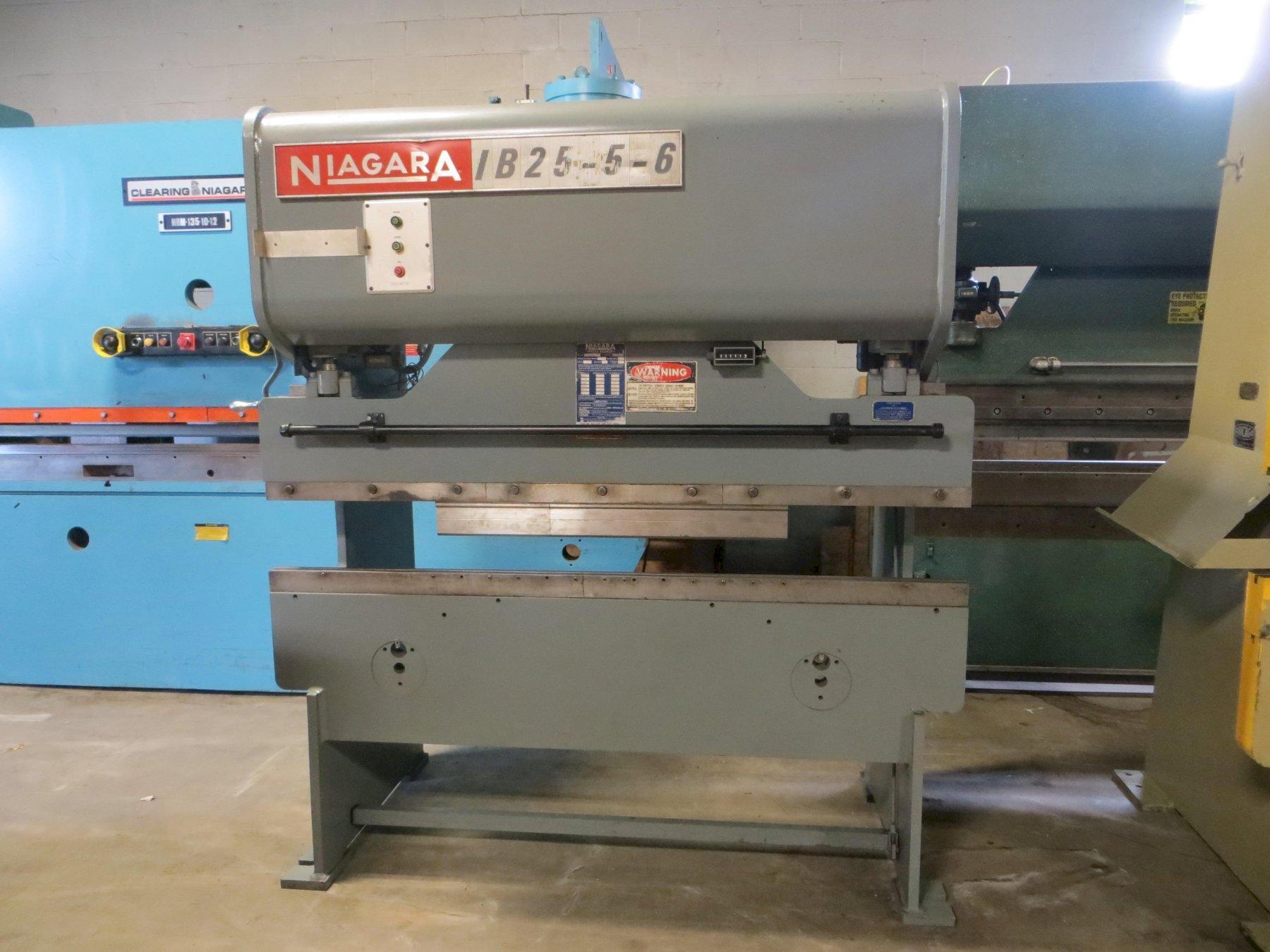 25 Ton x 6 ft. Niagara Mechanical Press Brake Model IB25-5-6