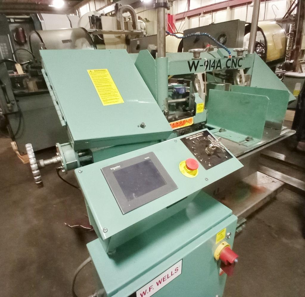 """W. F, WELLS HORIZONTAL BAND SAW - FULL CNC AND AUTO CYCLE- 9"""" X 14"""" CAPACITY NEW 2012 EXCELLENT"""