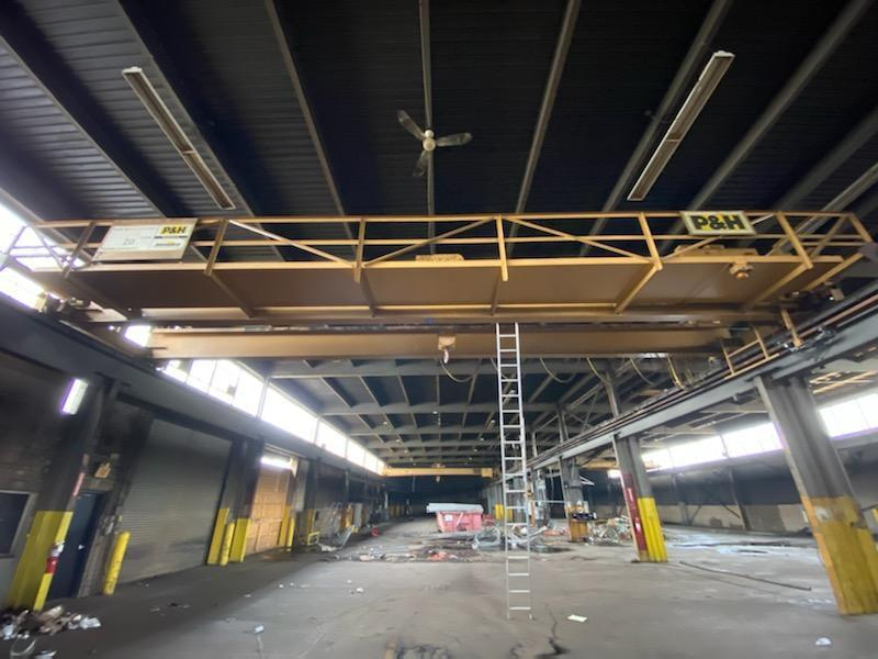 20 Ton P&H Top Running Double Girder Overhead Bridge Crane