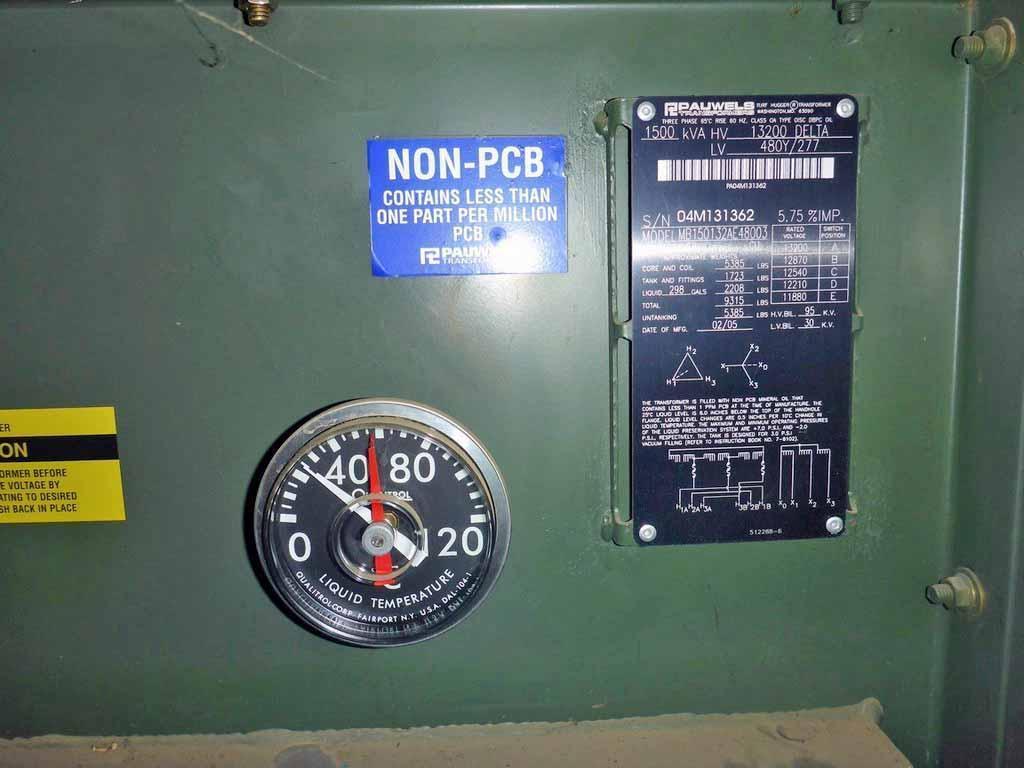 Transformer, 1,500 KVA STOCK# 2181
