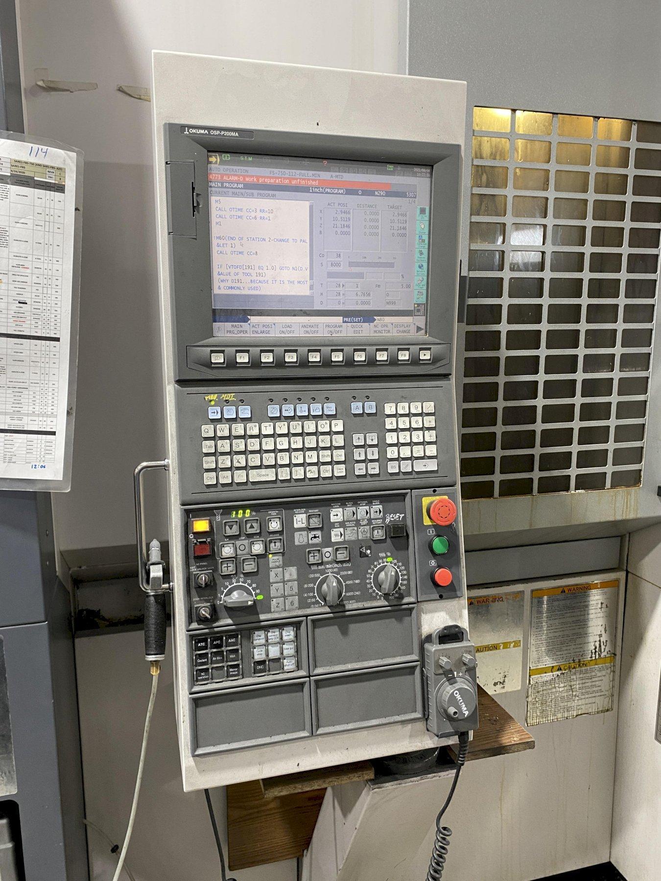 2011 Okuma MB-4000H Horizontal Machining Center