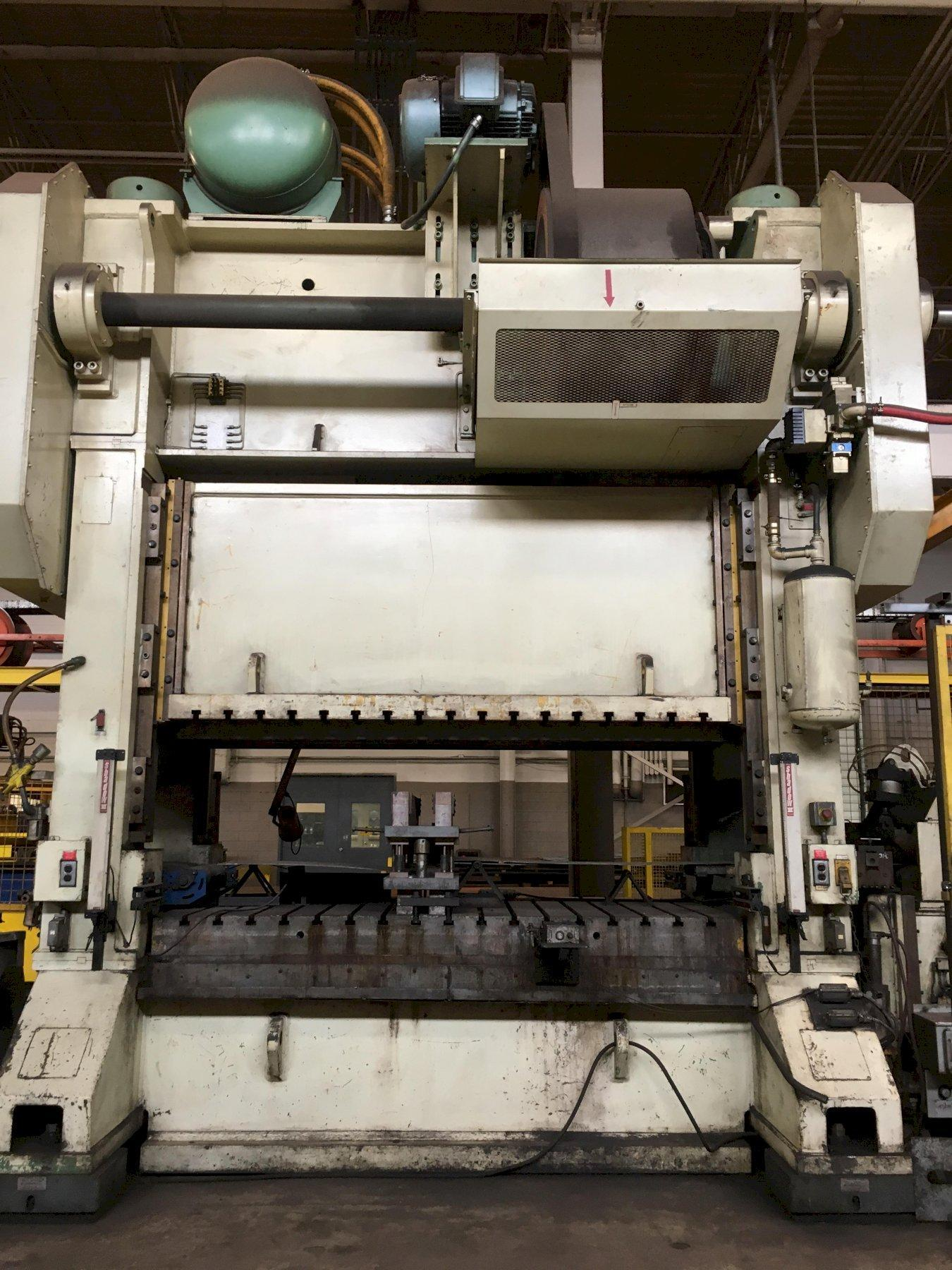 "400 TON BLOW MODEL #SC2-400-108-54 PRESS WITH 30"" SERVO FEED LINE: STOCK #12333"