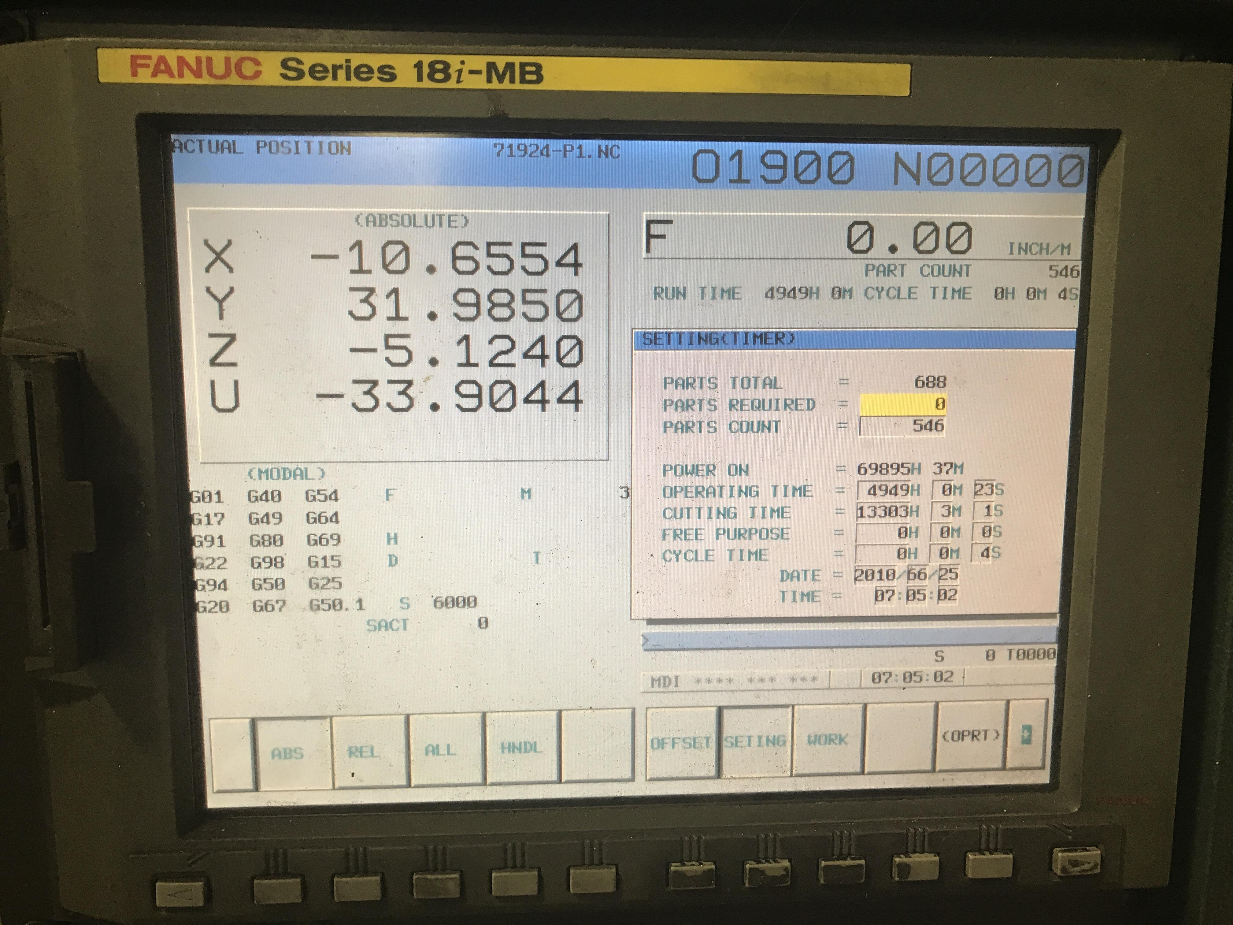 2006 Johnford SDMC-4000x3500 - CNC Sliding Double Column Bridgemill