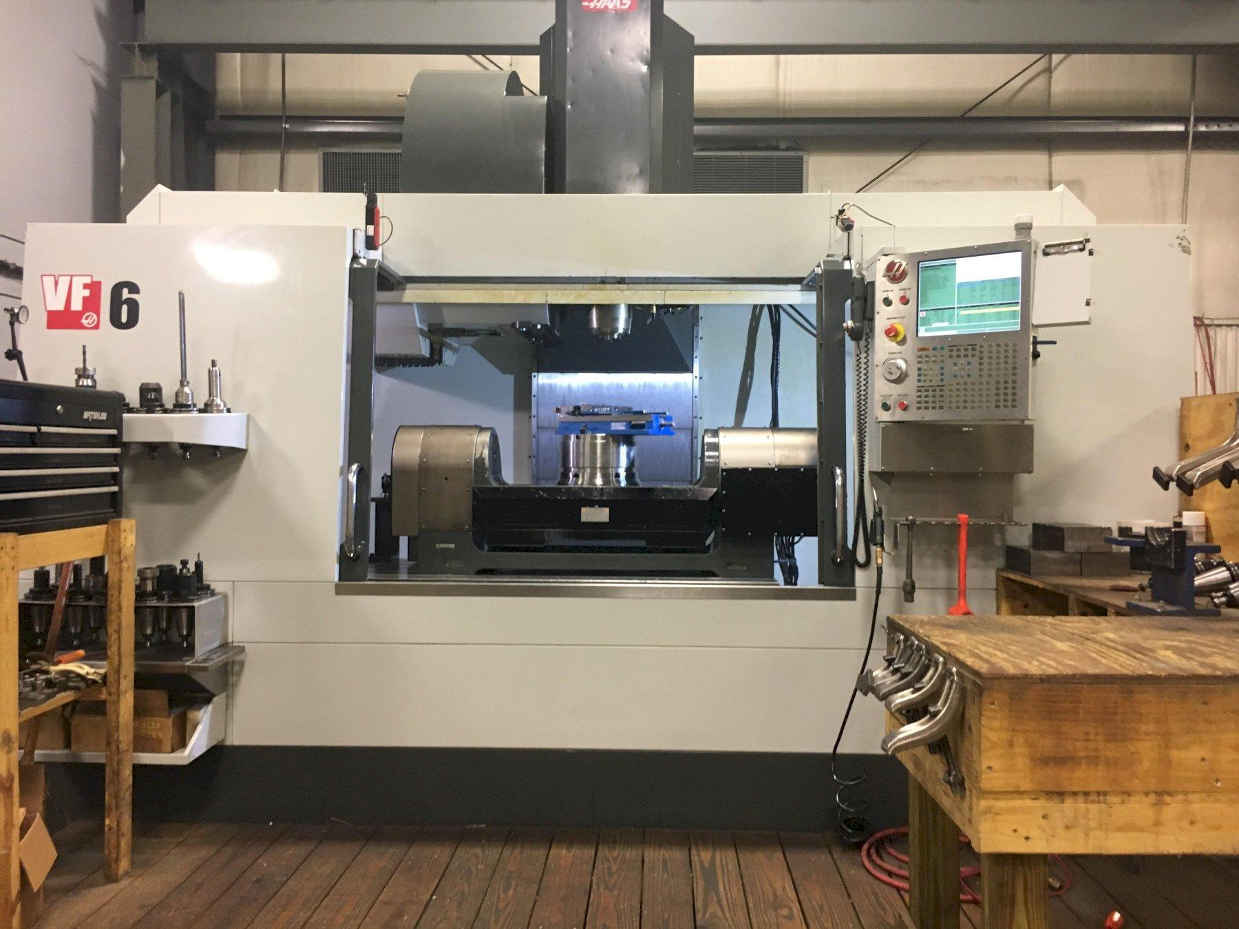 Haas VF-6/50TR 5-Axis CNC Vertical Machining Center, with TR310 Trunnion Rotary Table, New 2014