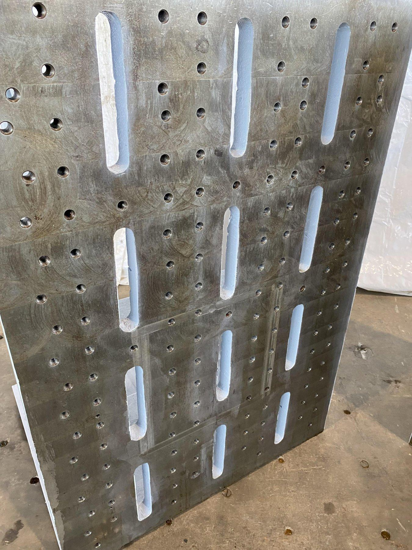 """33""""W X 48""""T X 28""""D ANGLE PLATE SET. STOCK # 0949421"""