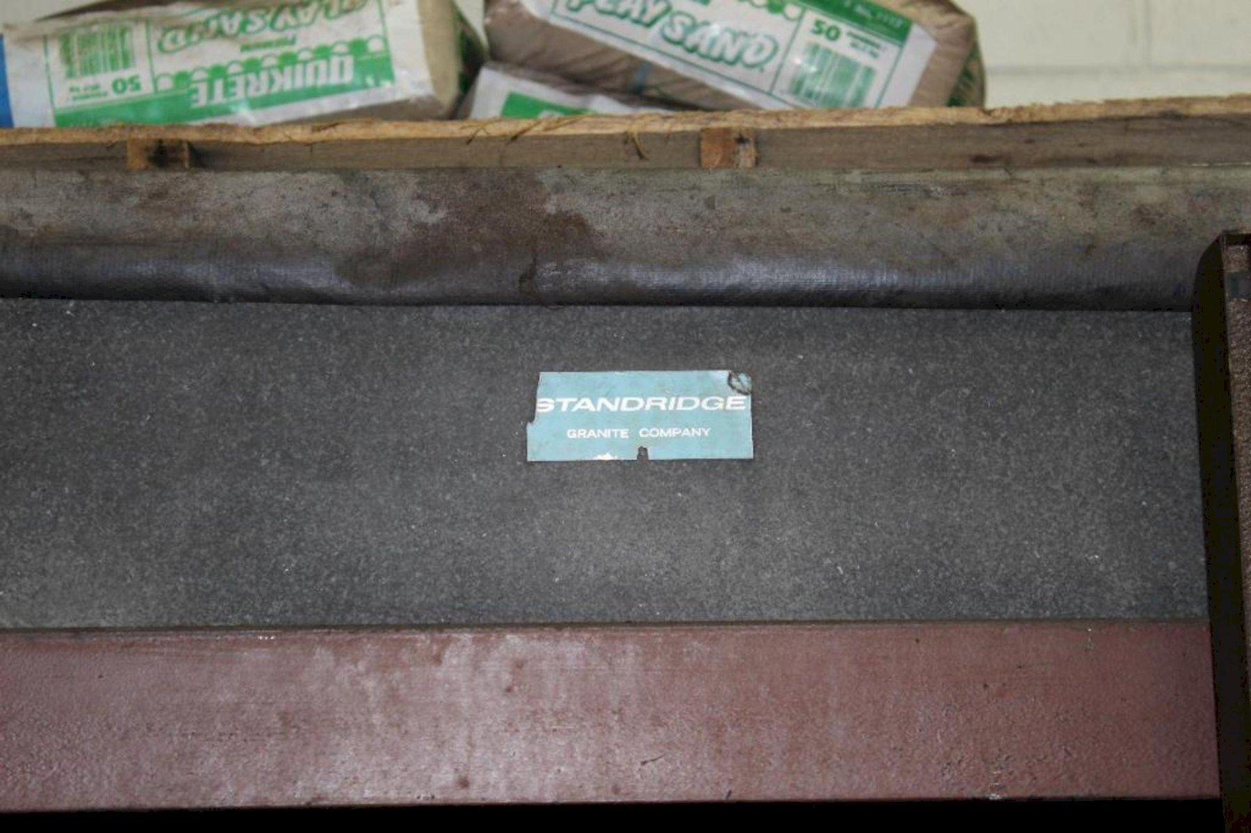 """48"""" X 144"""" X 14"""" MOJAVE GRANITE SURFACE LAYOUT INSPECTION PLATE TABLE: STOCK 15520"""