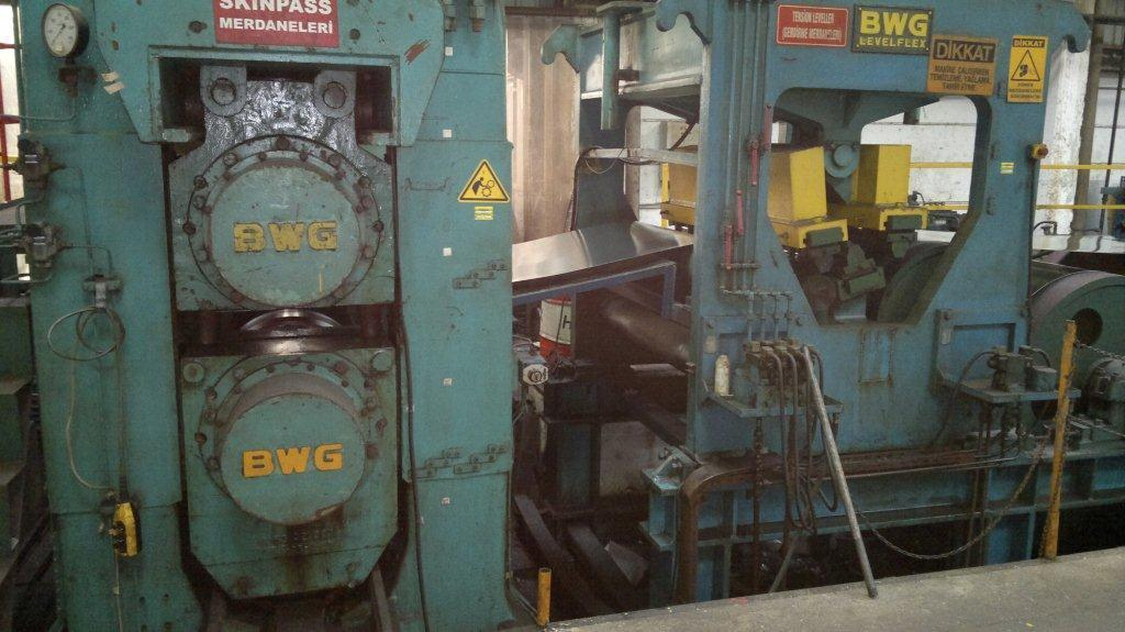 """51"""" (1300mm) x 6mm BWG Tension Level Line with Skin Pass Mill & Embossing"""
