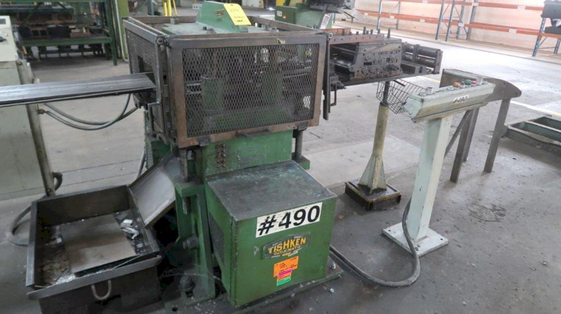 50 TON TISHKEN MODEL #CO-17-12-50 MECHANICAL CUTOFF PRESS: STOCK #14576