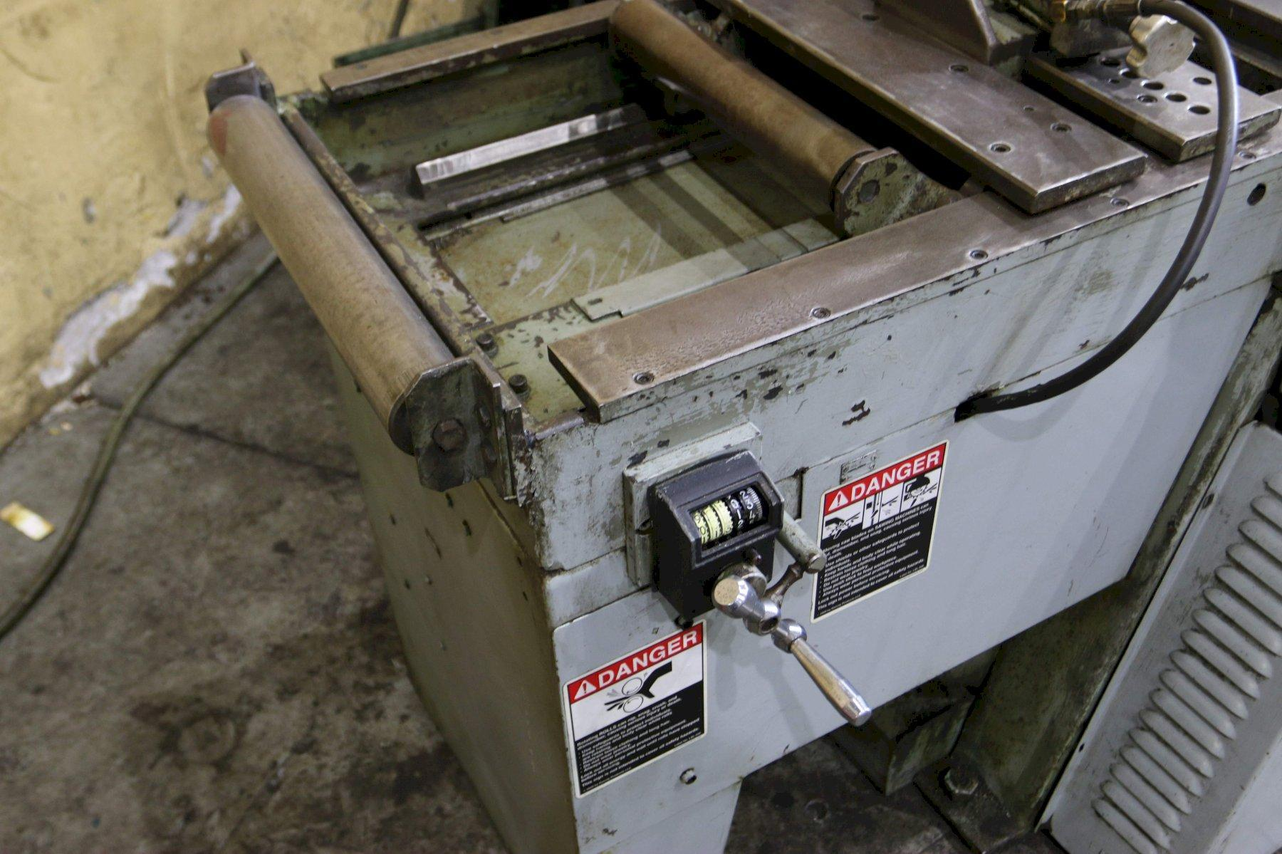 10' X 10' MARVEL MODEL V-10A AUTOMATIC MITRE VERTICAL SAW: STOCK 70609