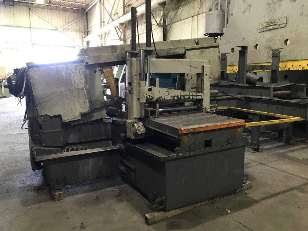 "USED HYD-MECH FULLY AUTOMATIC HORIZONTAL MITERING BANDSAW, Model M-20A, 20"" x 30"", Stock No. 10380"