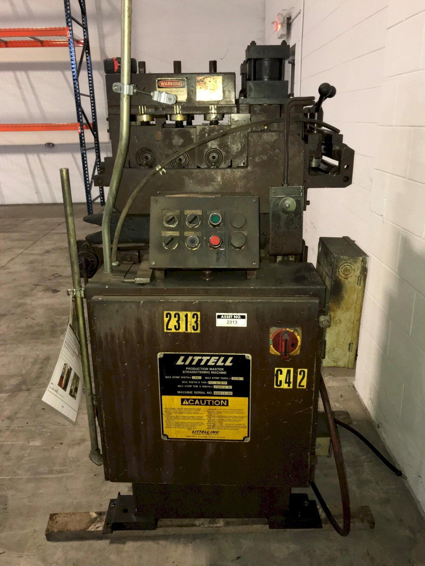 (S) LITTELL Production Master Powered Coil Straightener 12