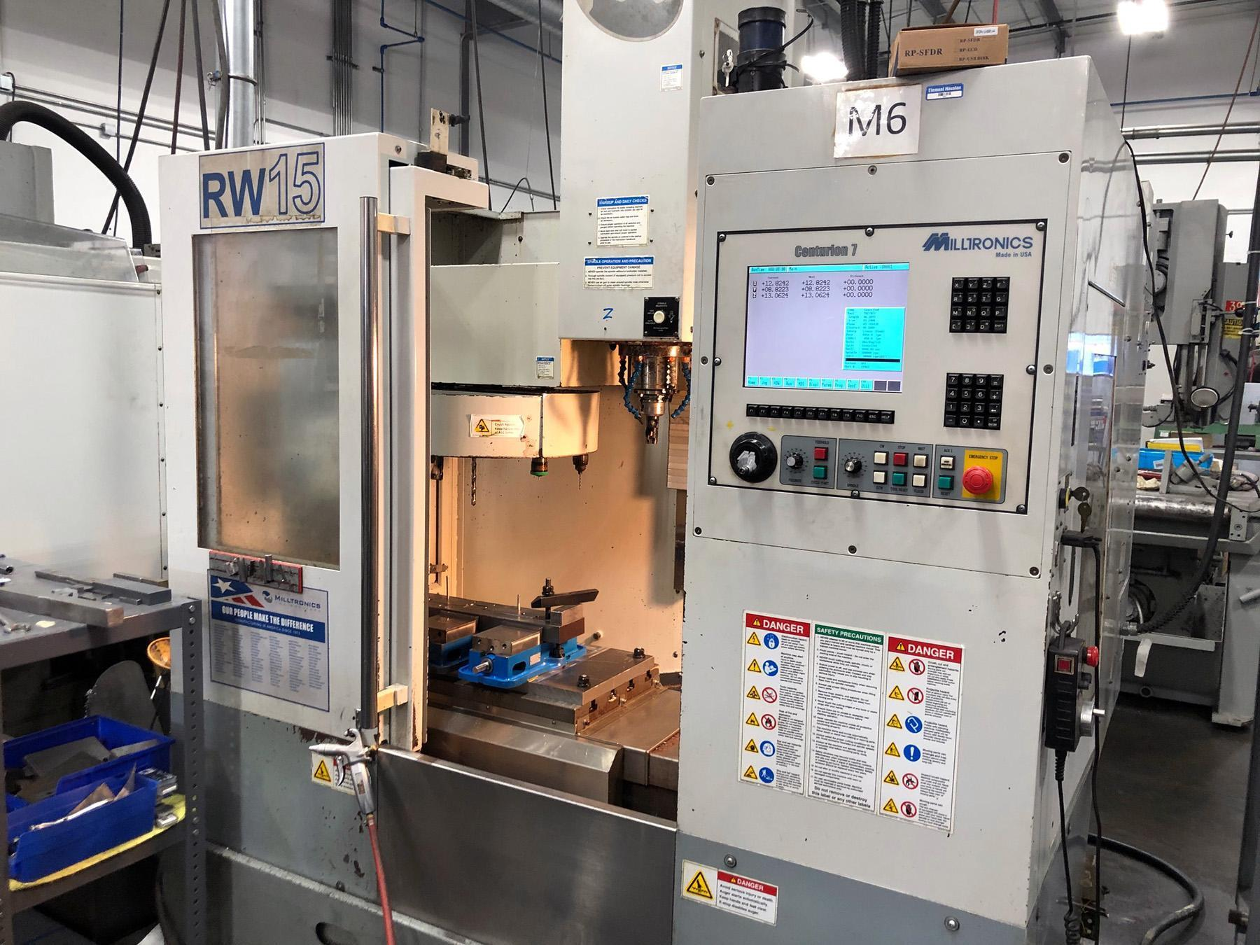 USED, MILLTRONICS MODEL RW15 SERIES C CNC VERTICAL MACHINING CENTER