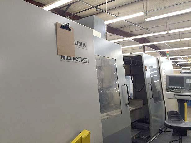 "OKUMA MILLAC 852V, Okuma OSP P200L CNC, X=80.71"", Y=33.46"", Z=29.53"", 86.6"" x 33.4"" Table, 36 Station Tool Change, 15"" 4th Axis Rotary Table, Cat-50, 6000 RPM, New 2008."