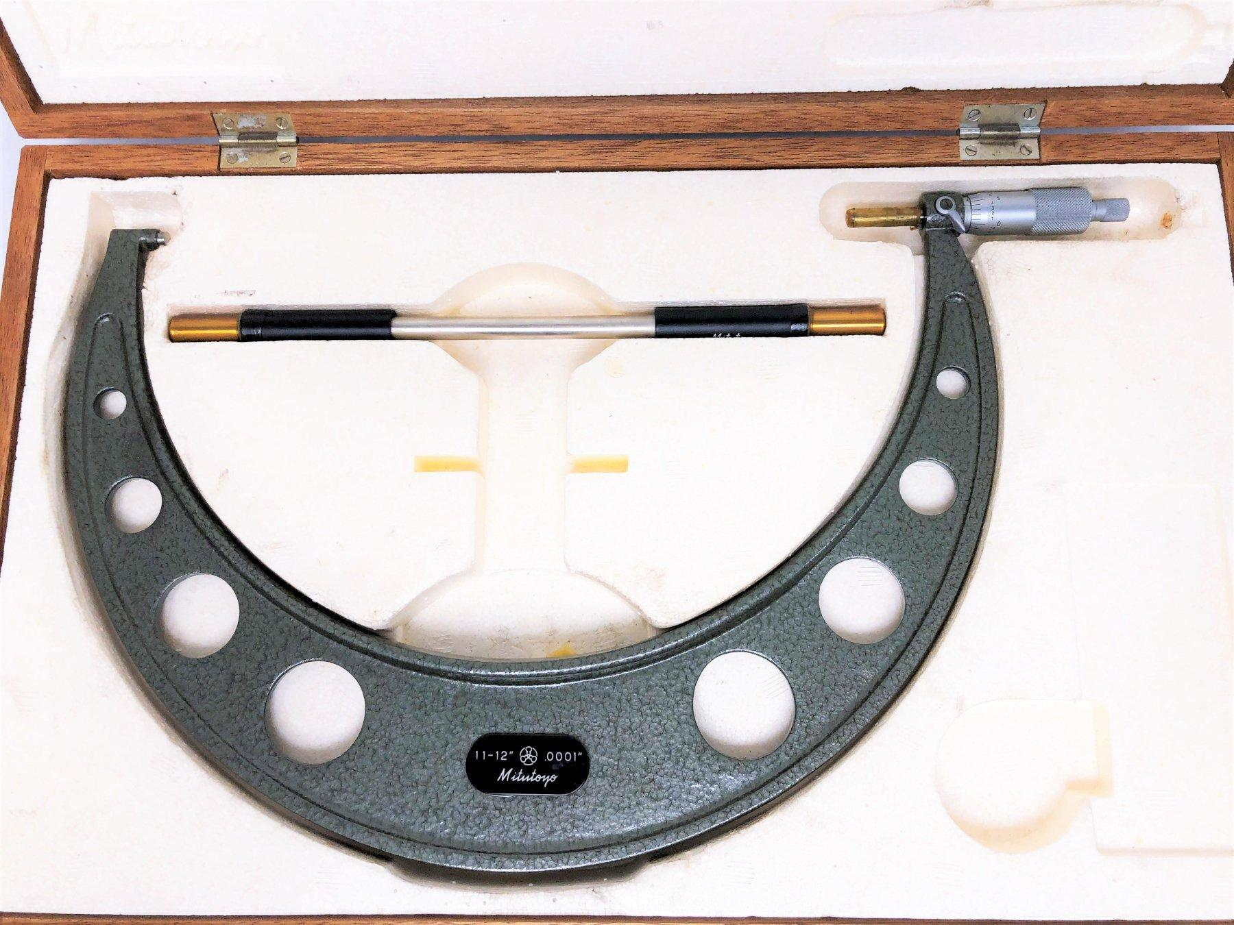 """11"""" TO 12"""" MITUTOYO NO. 103-226 OUTSIDE MICROMETER: STOCK #14403"""