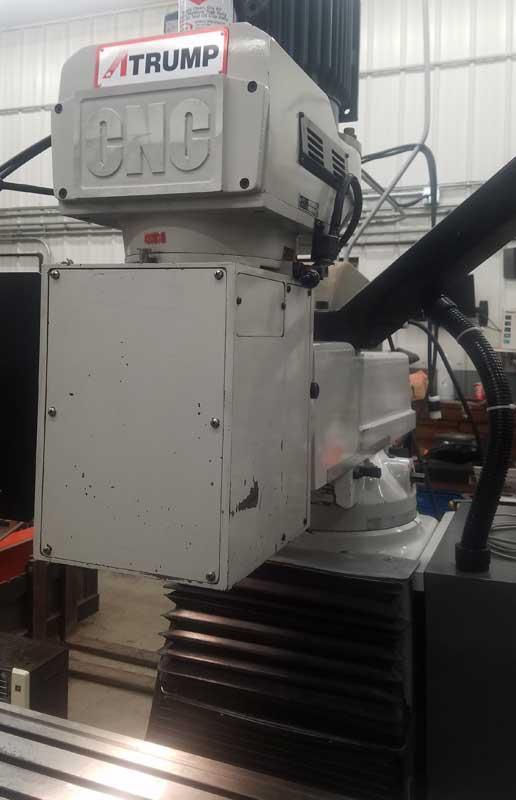 """ATRUMP 3-Axis CNC, Centroid M400 CNC Control, 10""""x54"""" Table, Travels X= 31"""" , Y=14"""" , Z= 6"""", 5HP Variable Speed Spindle, Cat 40, New 2007."""