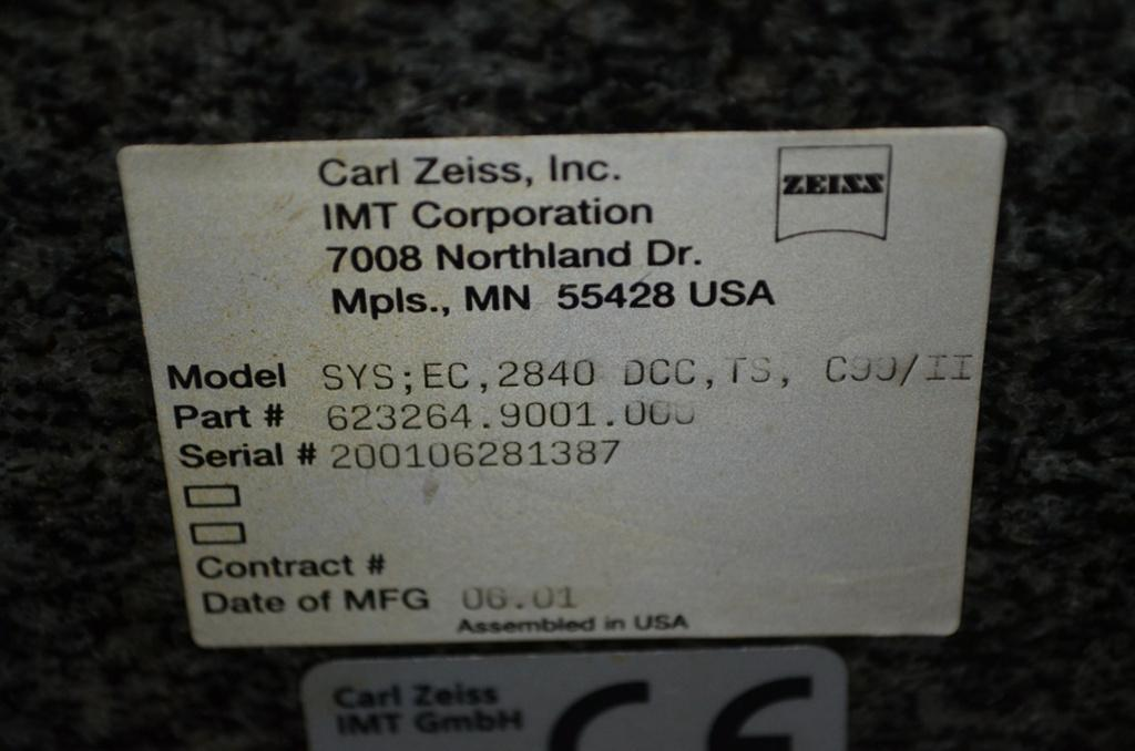 "ZEISSZeiss Eclipse, RDS,  28"" x 40"" x 24"", Coordinate measuring machine (CMM)"