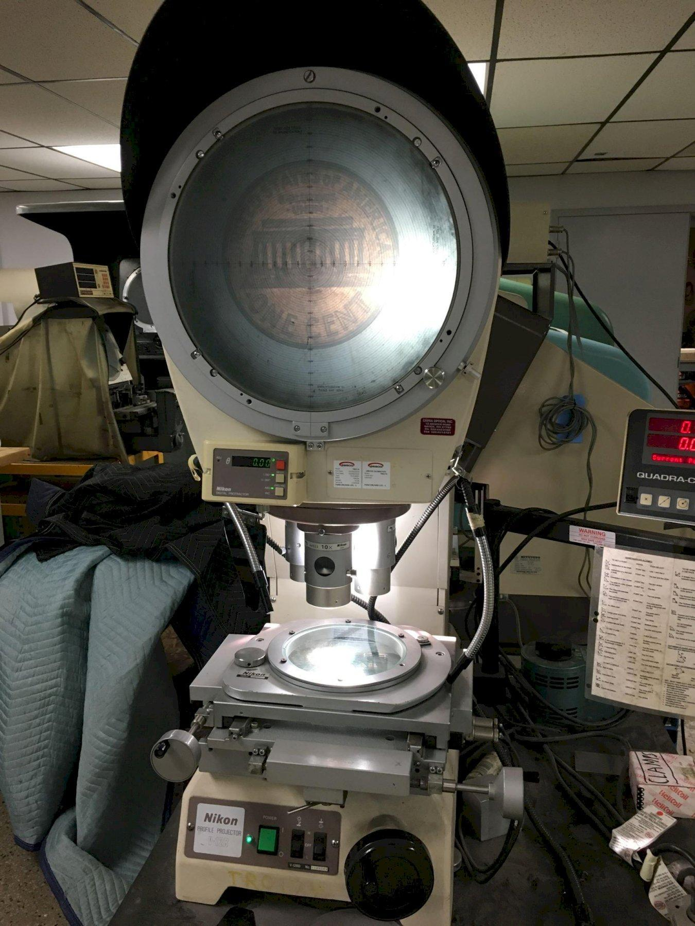 "12"" NIKON Model V-12BD Bench Top Vertical Beam Comparator, S/N 1100364, New Approx 1998."