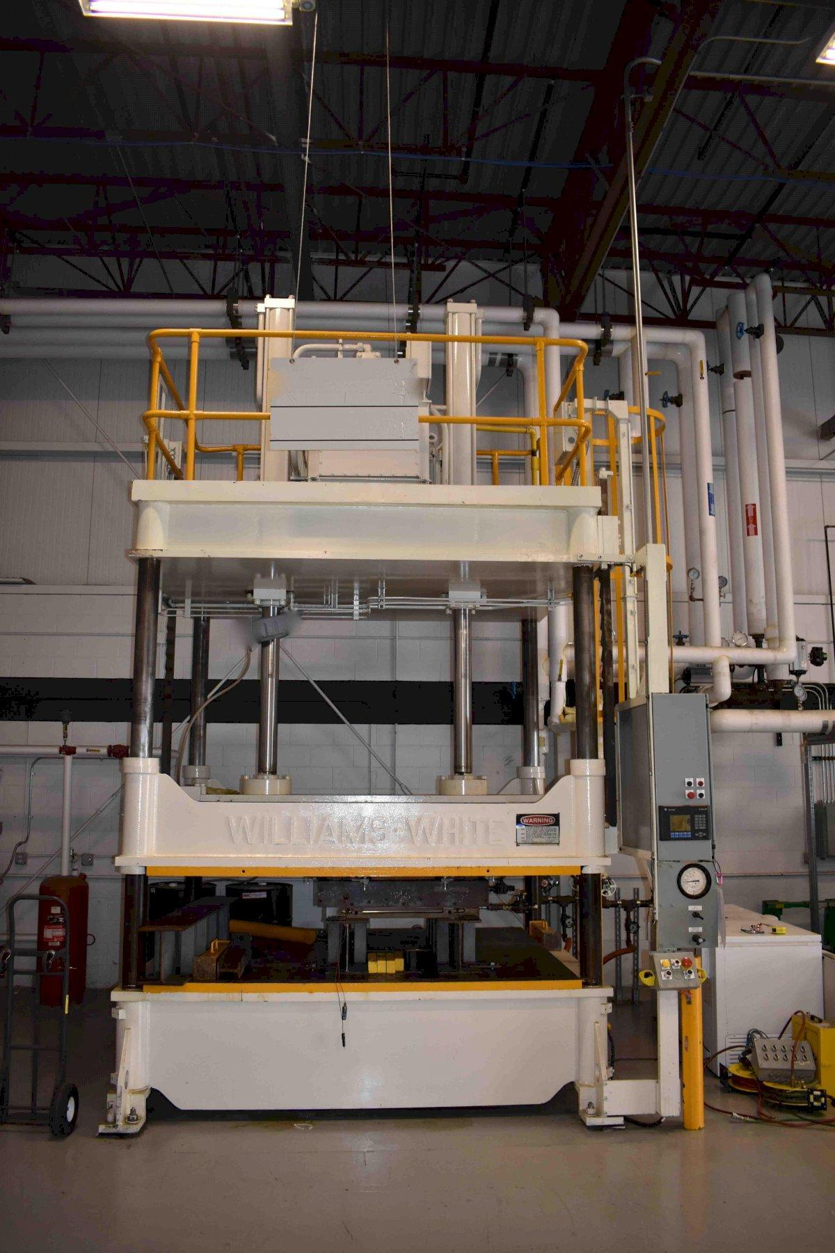 100 TON WILLIAMS & WHITE HYDRAULIC 4 POST PRESS, 66