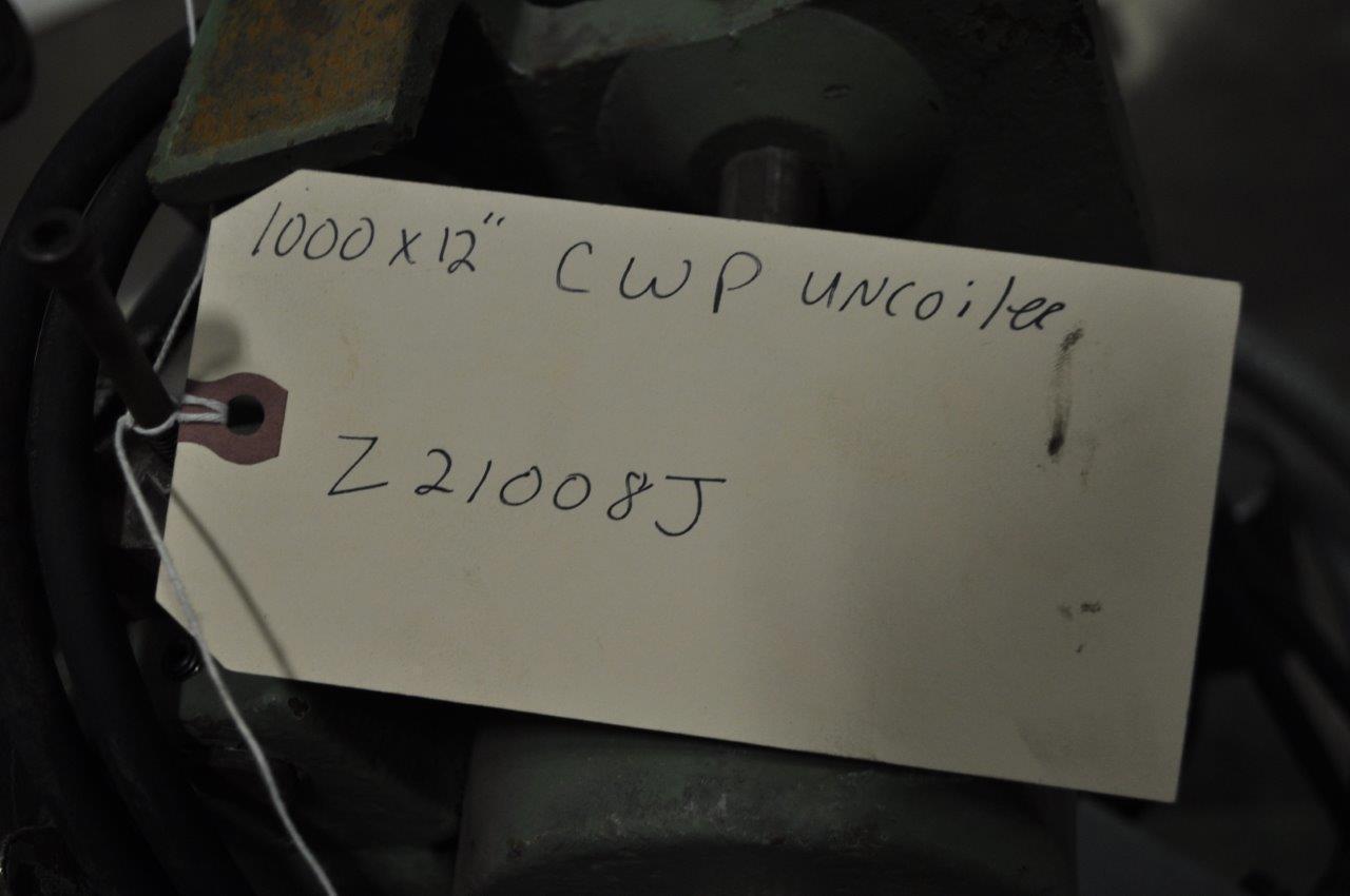 "1000 LB x 12"" Motorized Cooper Weymouth Peterson Uncoiler"