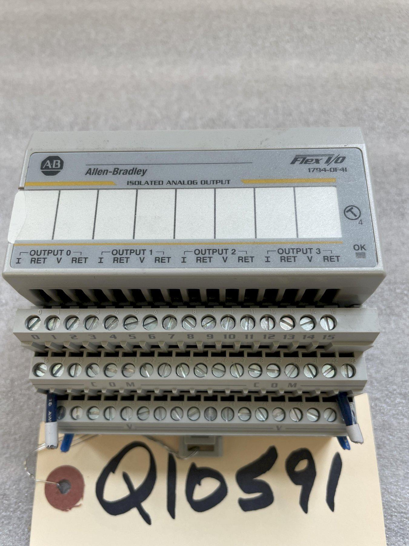 ALLEN BRADLEY Flex I/O 1794-OF4I Isolated Analog Output Module