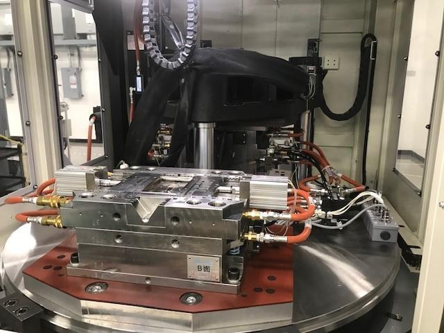 Nissei Used TNX75R12A Vertical Injection Molding Machine, 75 US ton, Yr. 2015, 3.38 oz.