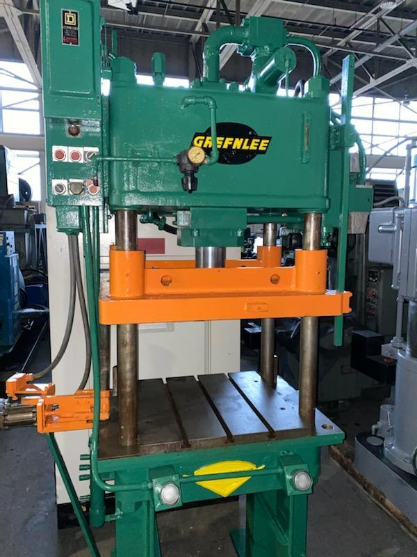 50 TON GREENLEE HYDRAULIC 4 POST PRESS. STOCK # 0732820