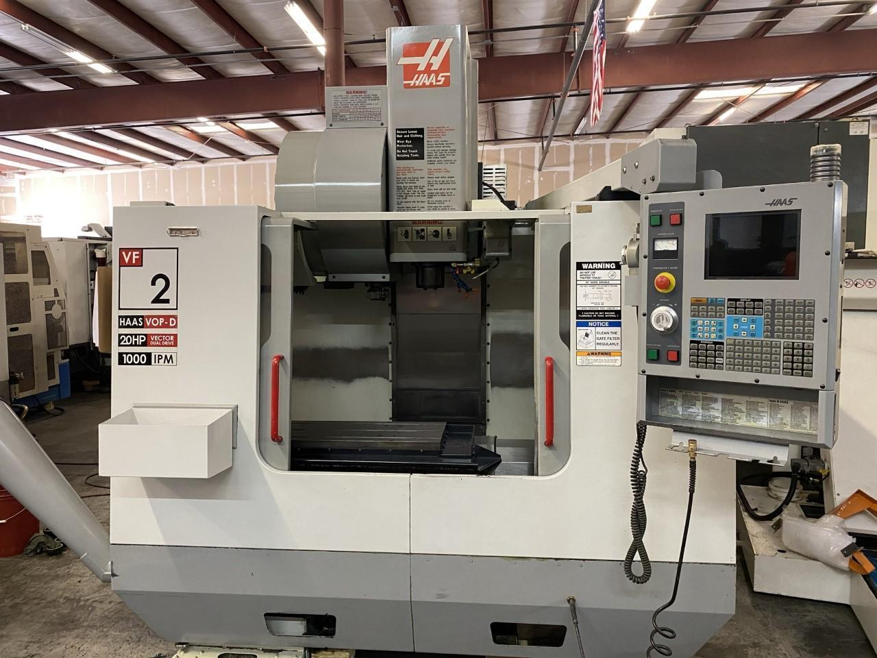 HAAS MODEL #VF-2 CNC VERTICAL MACHINING CENTER: STOCK 14516