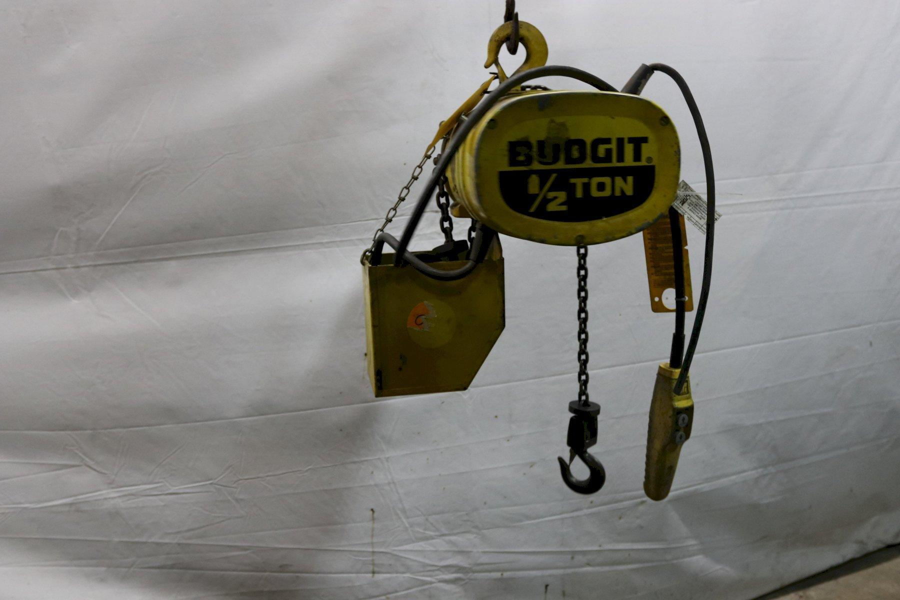 1/2 TON BUDGIT POWER CHAIN HOIST : STOCK #11991