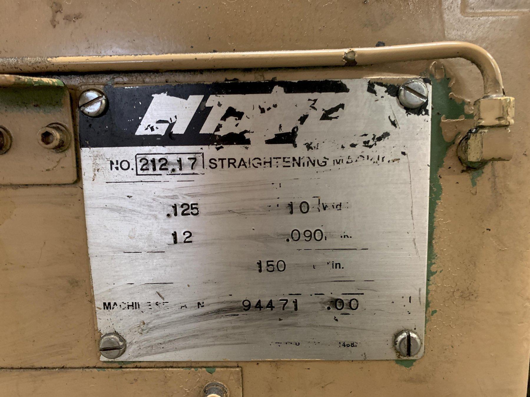 "12"" wide Littell 212-17PDL Precision Straightener"