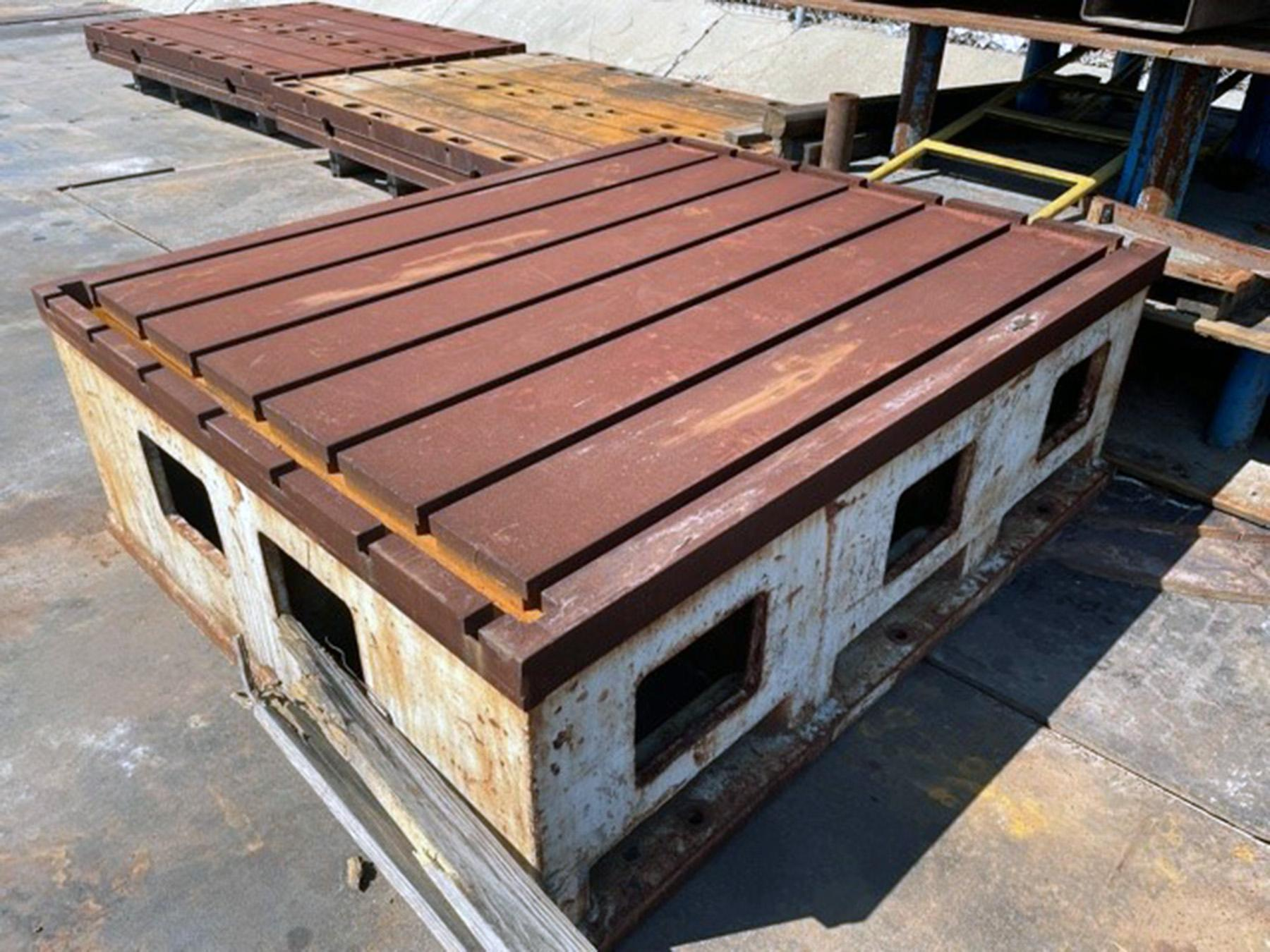 """USED, 75"""" X 62"""" X 24"""" THICK FLOOR TABLE - PLATE"""