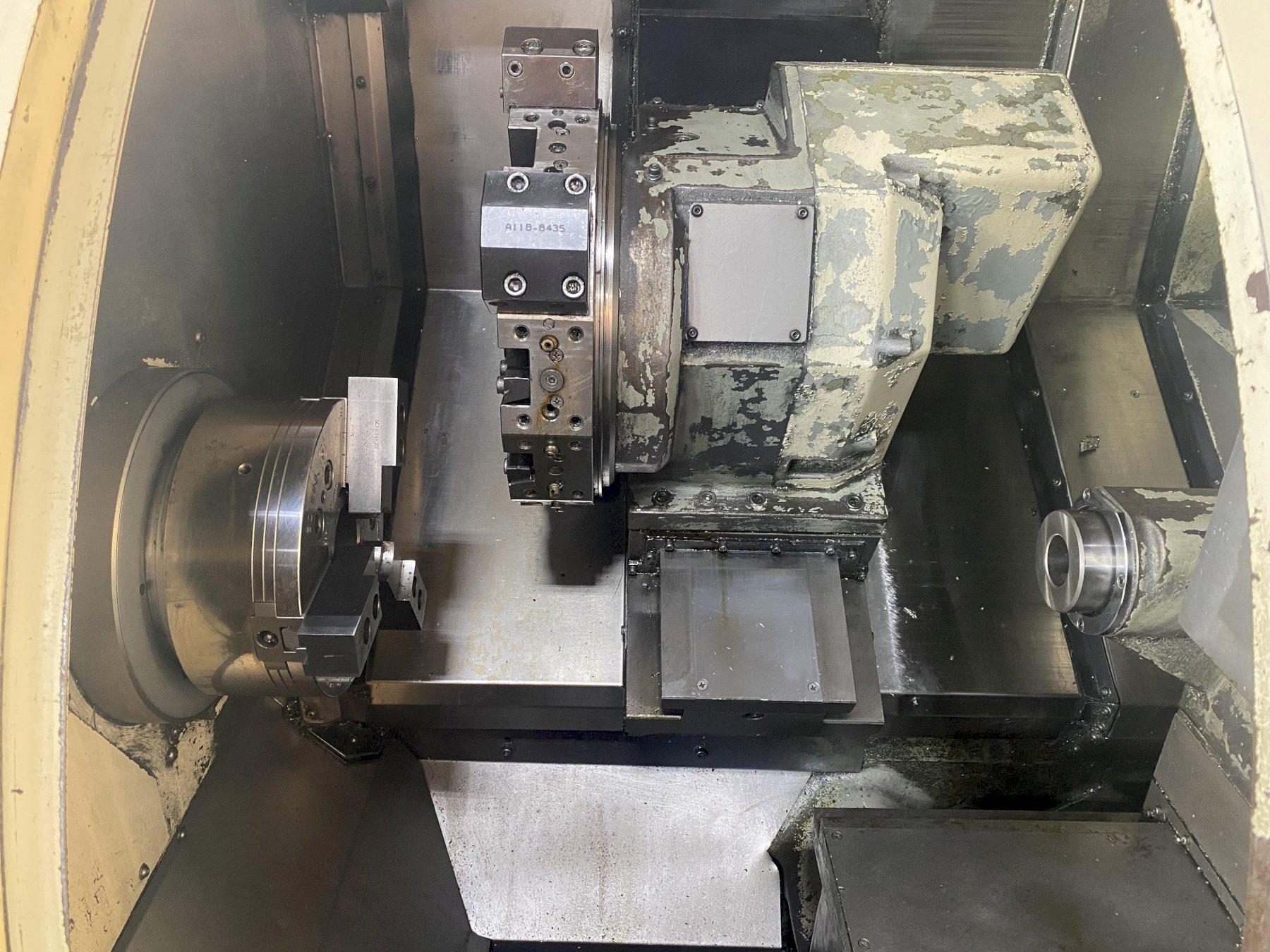 "OKUMA CROWN L1060 CNC TURNING CENTER, Okuma OSP-U10L CNC Control, 21.62"" Max Swing, 10"" 3-Jaw Chuck, 20.47"" Max Turning Length, 3"" Bar Capacity, 3500 Max RPM, 12 Station Turret, Chip Conveyor, New 2000."