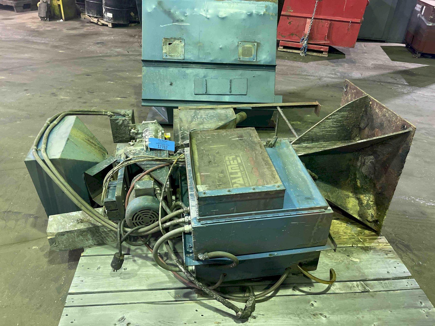palmer model m50 50# per minute mixer s/n m125 with pumps, 3 pumps