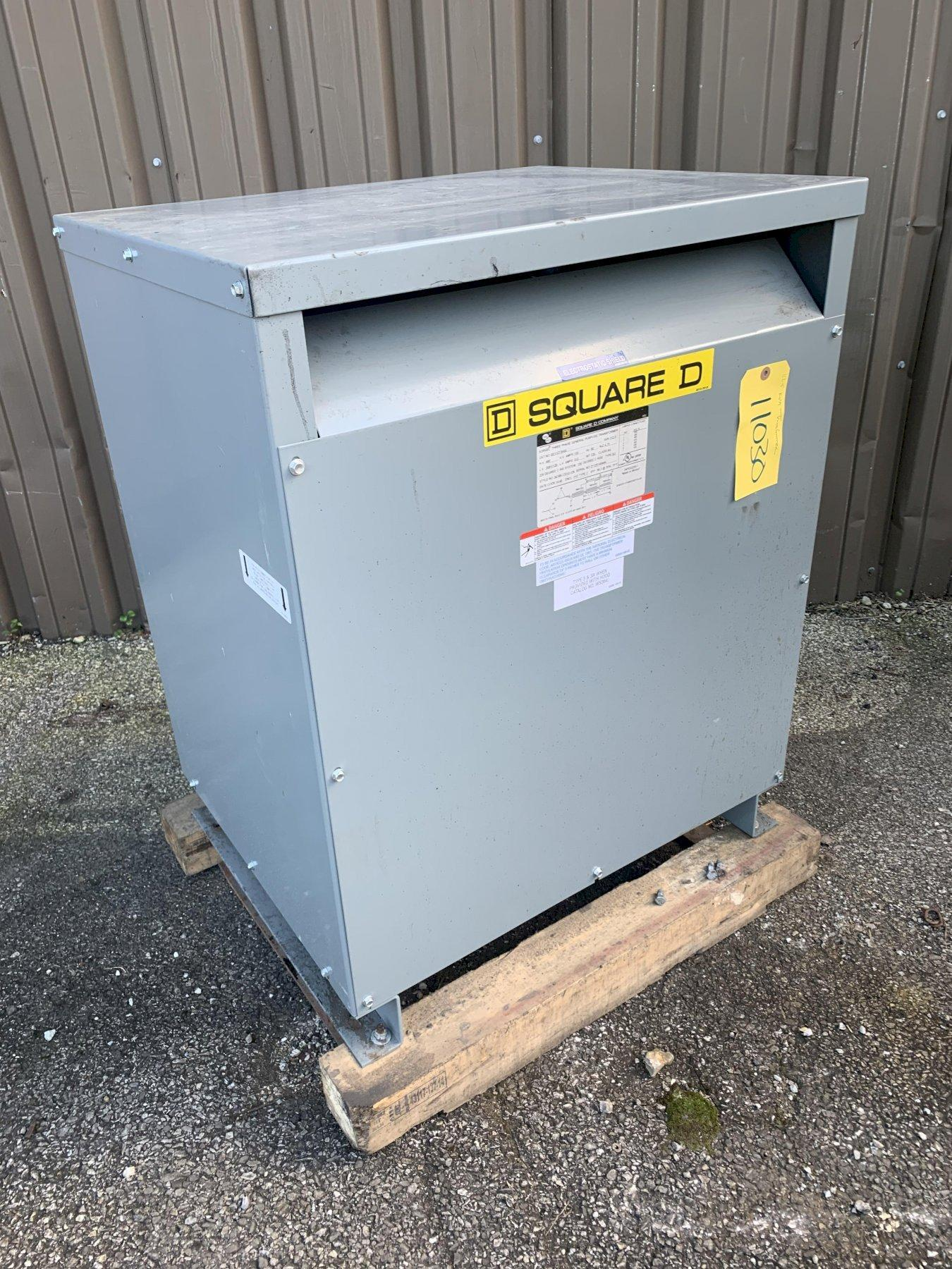 112.5 KVA SQUARE D TRANSFORMER, 480V TO 208Y/120V: STOCK 11030