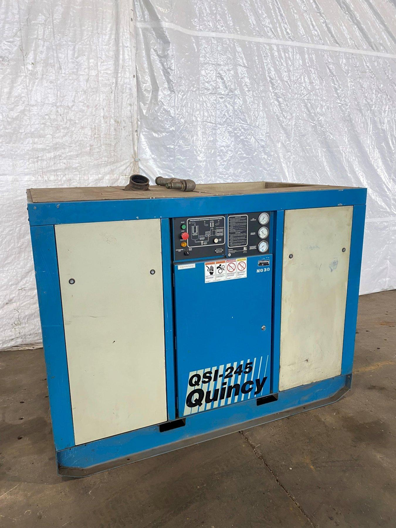 50 HP QUINCY QSI-245 ROTARY SCREW AIR COMPRESSOR. STOCK # 0307921