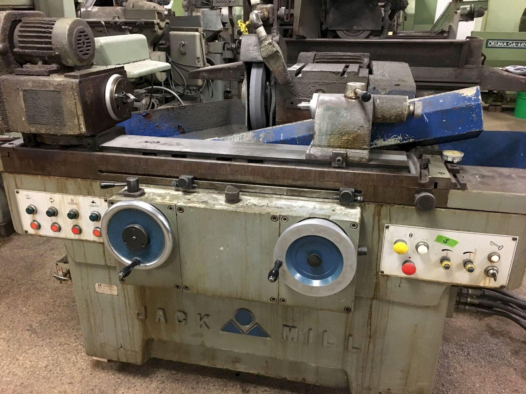 Jack Mill Hydraulic Cylindrical OD Grinder, with Internal Attachment