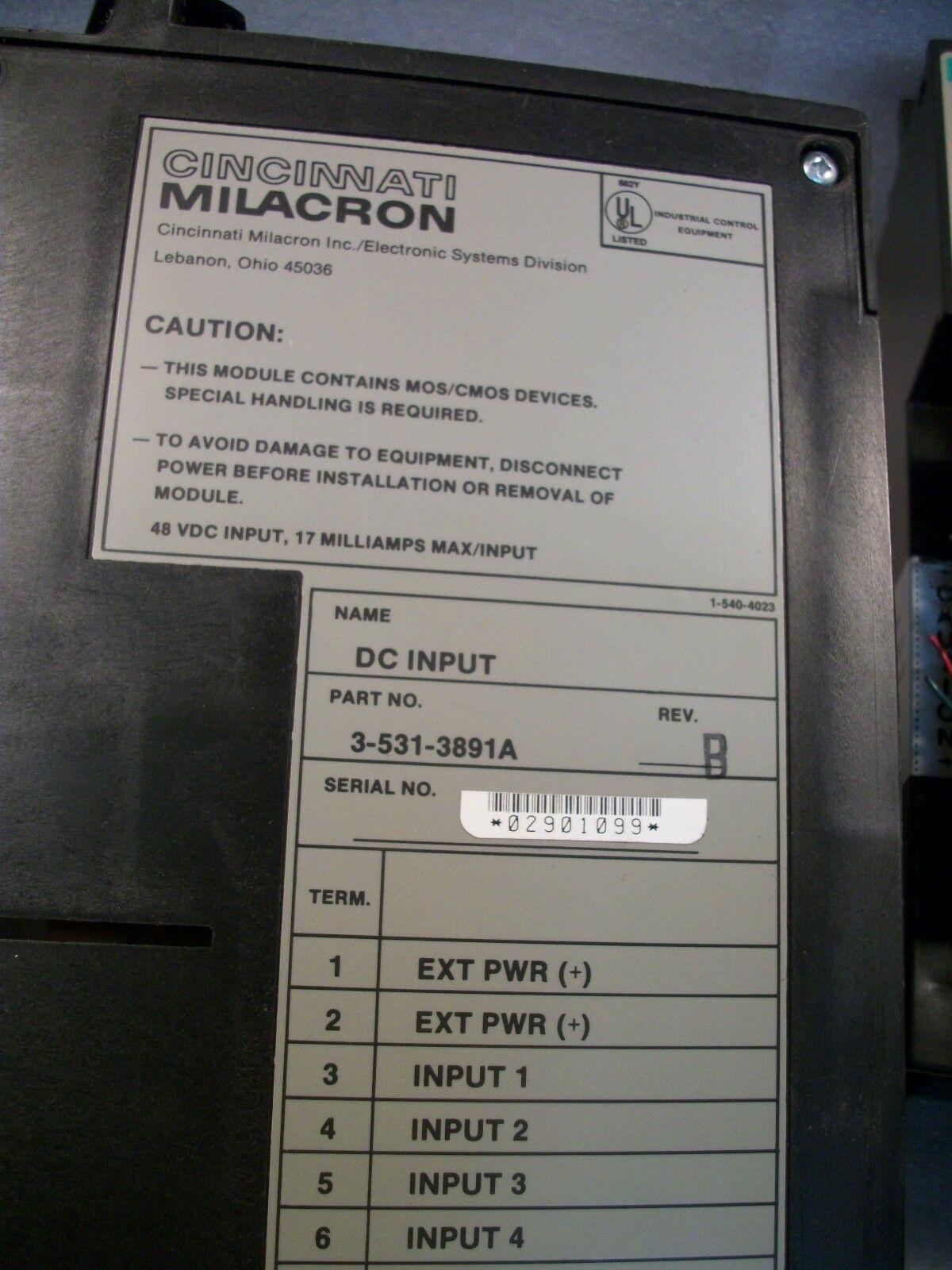 Cincinnati Milacron Siemens CNC Control Circuit I/O Board 3-531-3891A