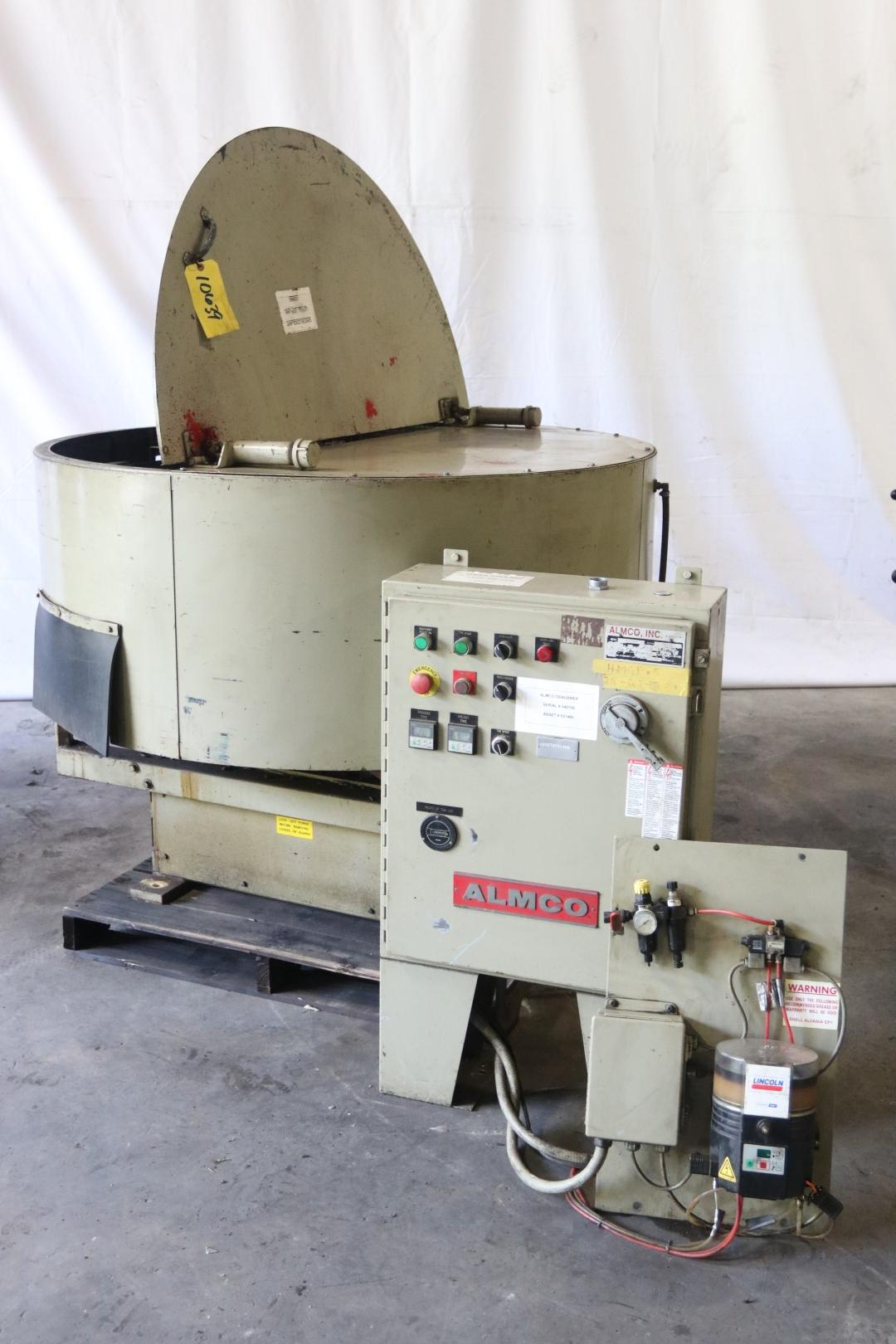 4.2 CU FT ALMCO MODEL #OR-5VLR ROTARY VIBRATORY FINISHER: STOCK 10639