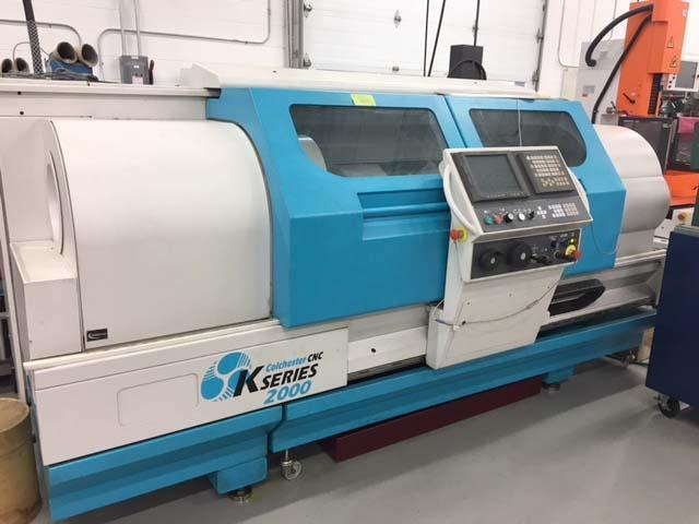 """CLAUSING COLCHESTER COMBI K2, Fanuc 210i-T CNC Control, MPG for Each Axis, 15.7"""" Swing Over the Bed, 23"""" Swing in the Gap, 50"""" Between Centers, 10"""" 3-Jaw Chuck, 2 Range Geared Spindle with CSS, New 2001."""