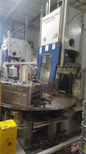 Van Dorn Used 200VTCR21 Vertical Rotary Injection Molding Machine, 200 US ton, Yr. 2004, 21 oz.