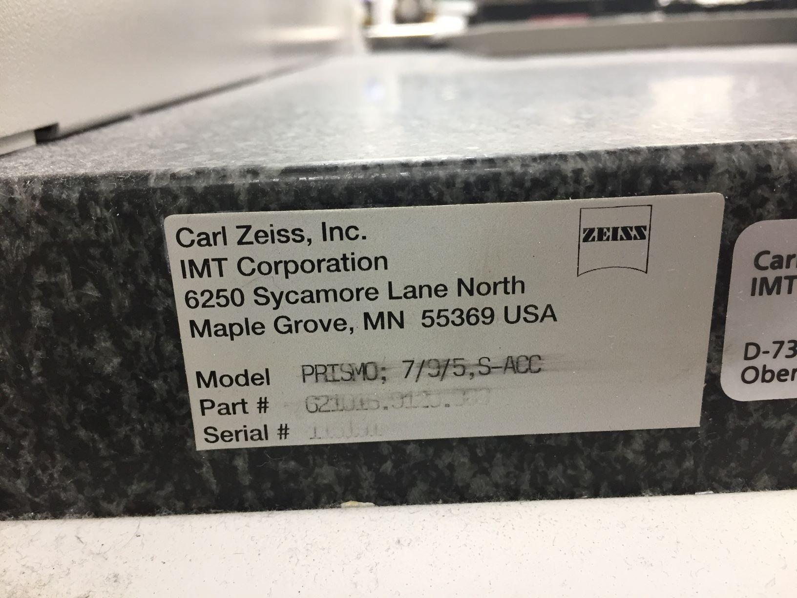 ZEISSZEISS PRISMO 7.9.5 DCC COORDINATE MEASURING MACHINE (CMM)